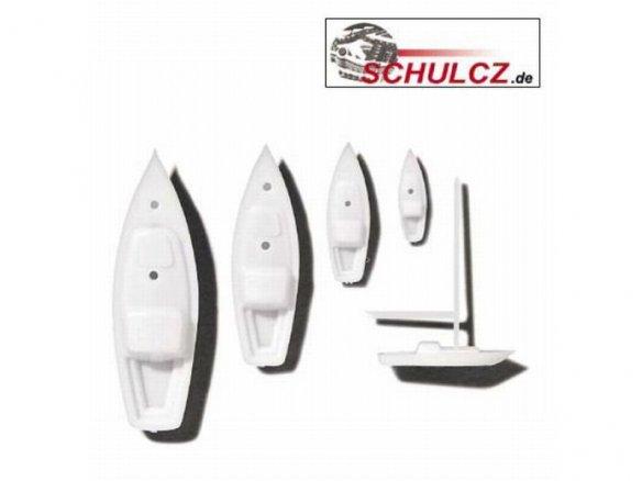 Boats, polystyrene, white, 1:500 - 1:200