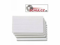 Step boards 34°, polystyrene, white
