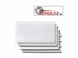 Step boards 17°, polystyrene, white