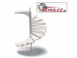 Spiral stairs, polystyrene, white