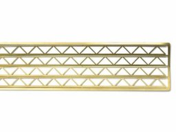 Etched brass lattice girder