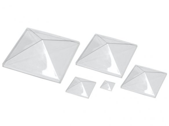 Pyramid domes, PET-G, transparent