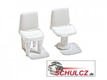 Chairs, white, 1:100