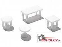 Tische weiß, 1:100