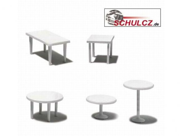 Tables, white, 1:50