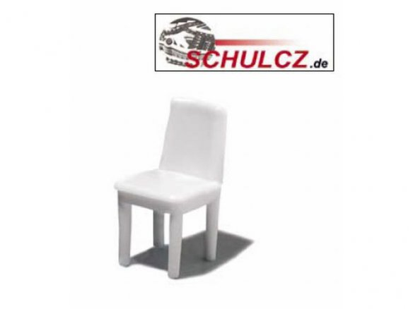 Chairs, white, 1:25