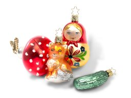 Glass X-mas tree ornament f. Thuringia hand-blown