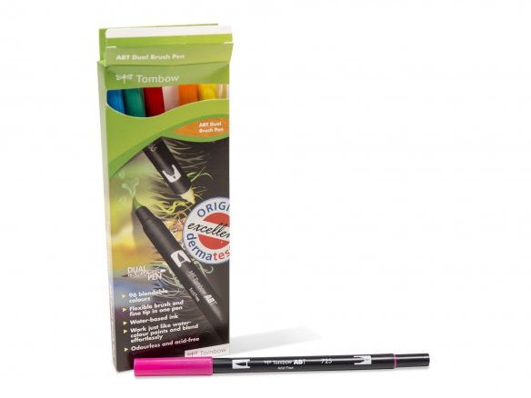 Tombow Dual Brush Pen ABT, set of 6