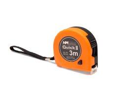 Measuring tape with quickstop locking nob