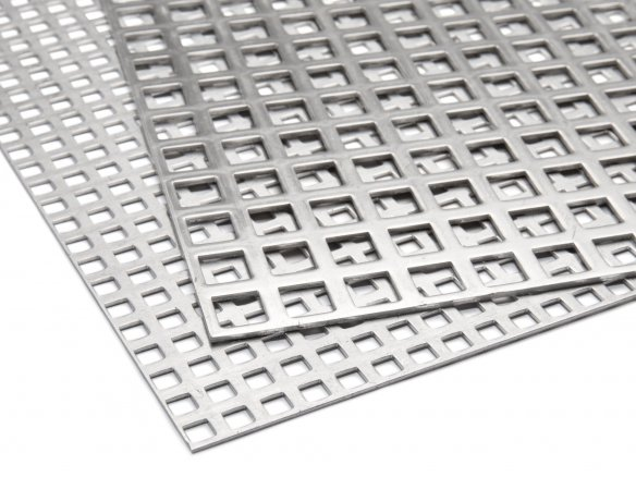 Aluminium, round-holed, square pitch custom cutting
