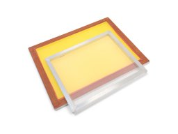 Screen printing frame, aluminium, covered
