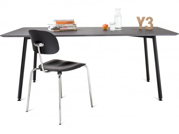 Modulor Y3 table, steel, black 10°