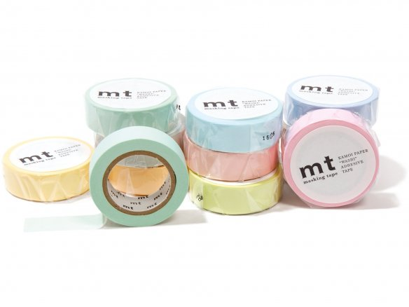 Mt 1P Basic masking tape, Washi, unicolor, pastell