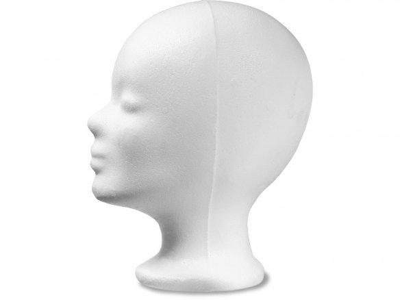 Polystyrene wig stand