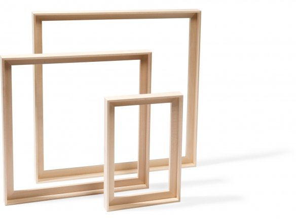 Basswood floater frame, natural