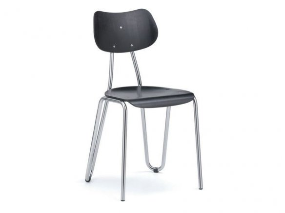 Steel-tube chair Arno 417, stackable