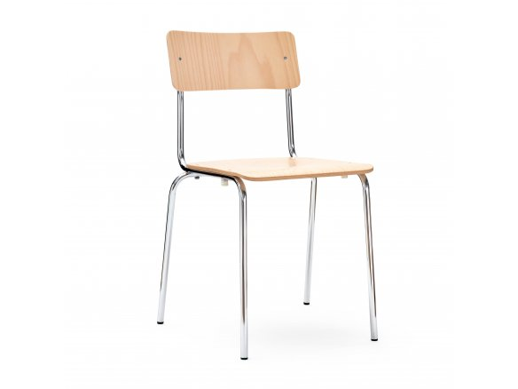 Steel-tube chair Comeback 041, stackable