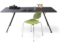 Modulor Y5 table, steel, black 30°
