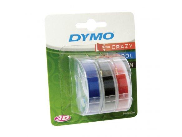 Nastro dymo per etichettatrice a rilievo 3d 9mm x 3mt rosso