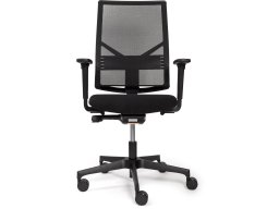 Modulor office swivel chair with mesh backrest