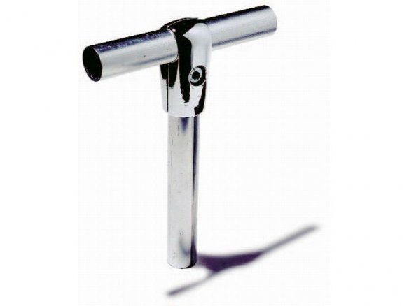 Raccordo a T in alluminio per tubi ø 25 mm.