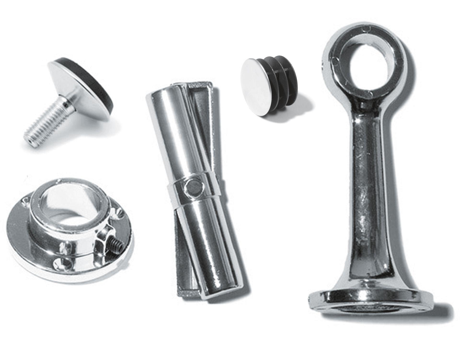 Relativ Stahl Rundrohr ø 25 mm, verchromt kaufen | Modulor TC09