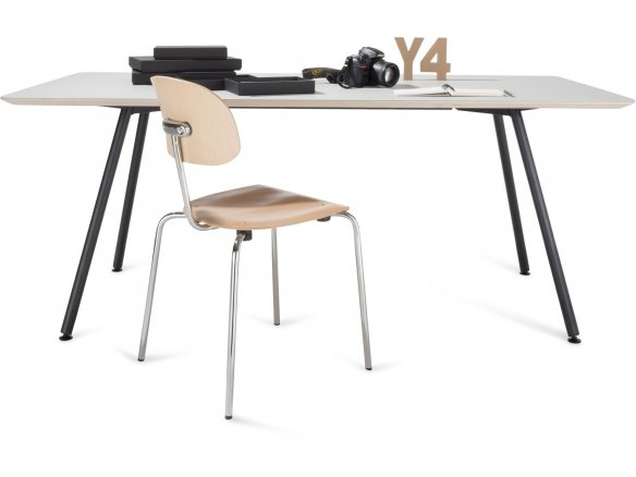 Modulor Y4 table, steel, black 20°