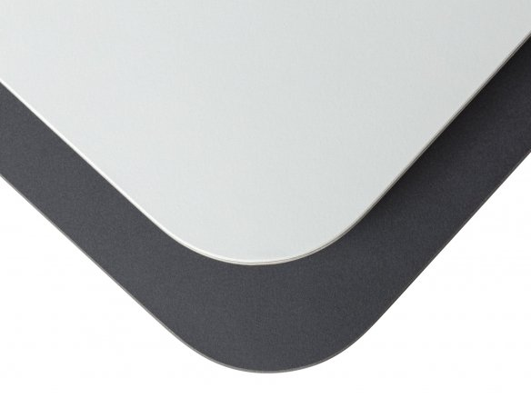 Linoleum tabletop, bevelled edge, 50mm radius