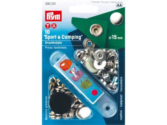 "Prym ""Sporting & Camping"" press fasteners, coloured"