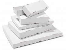 Folding box with lid, corrugated board, white