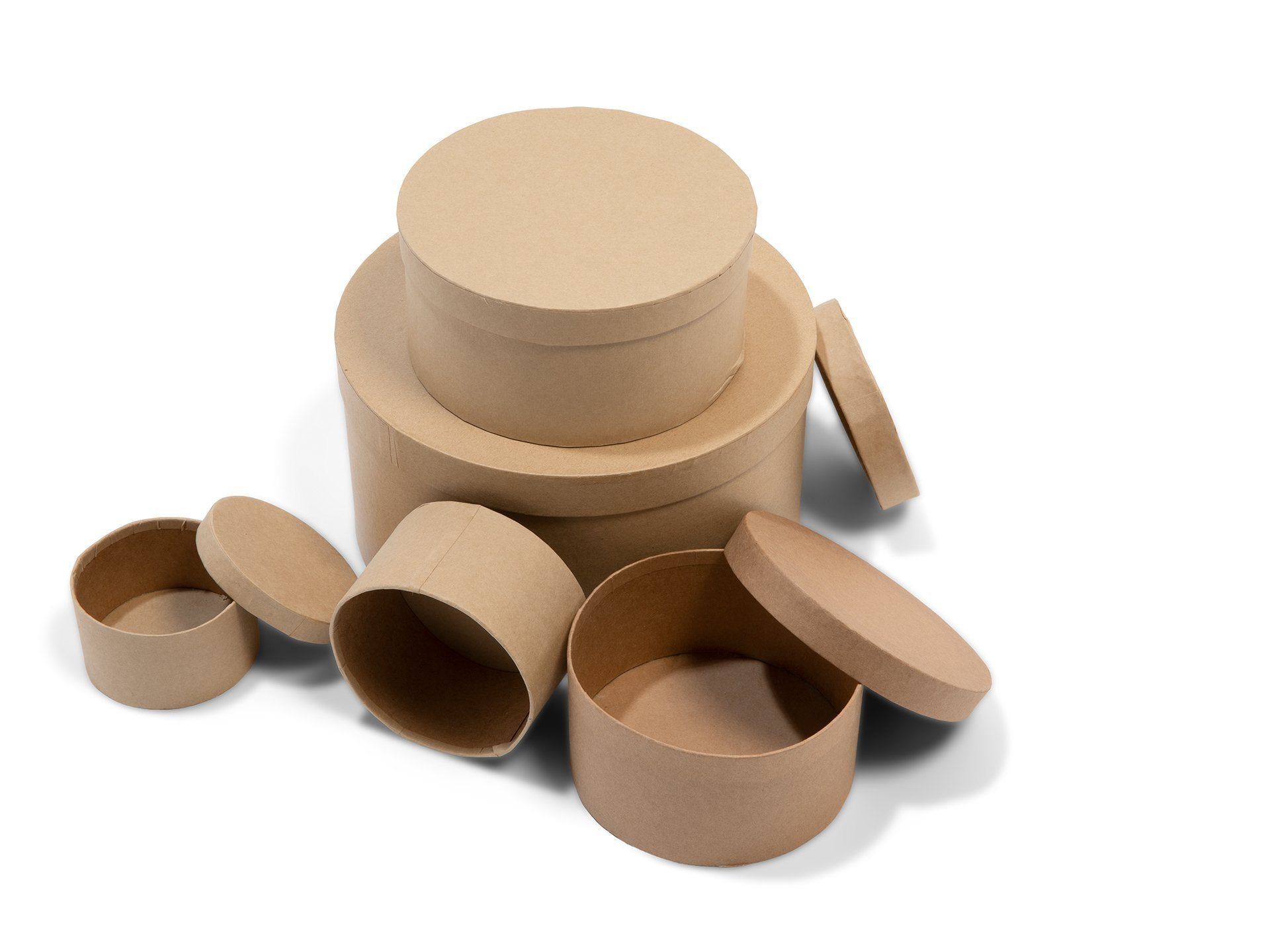Buy Round cardboard box, untreated, brown online at Modulor