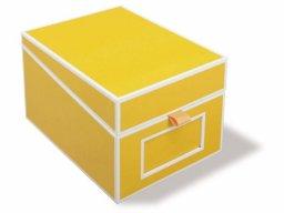 Caja tarjetas visita Semikolon con índice, cartón
