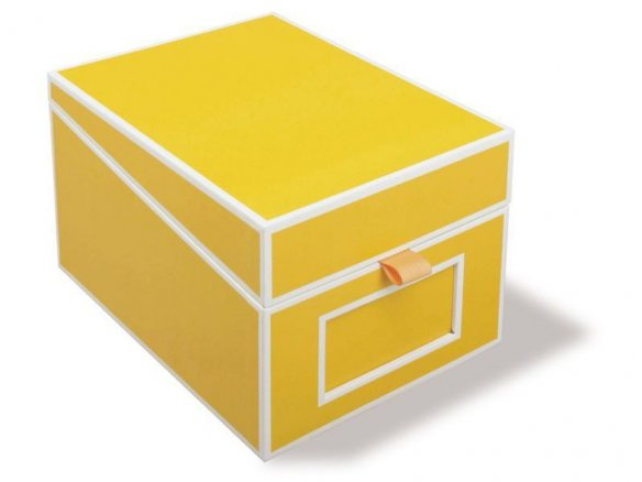 Semikolon business card box with index, cardboard