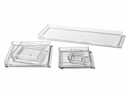 Palaset plastic trays, colourless