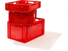 Caja de transporte para carne, roja
