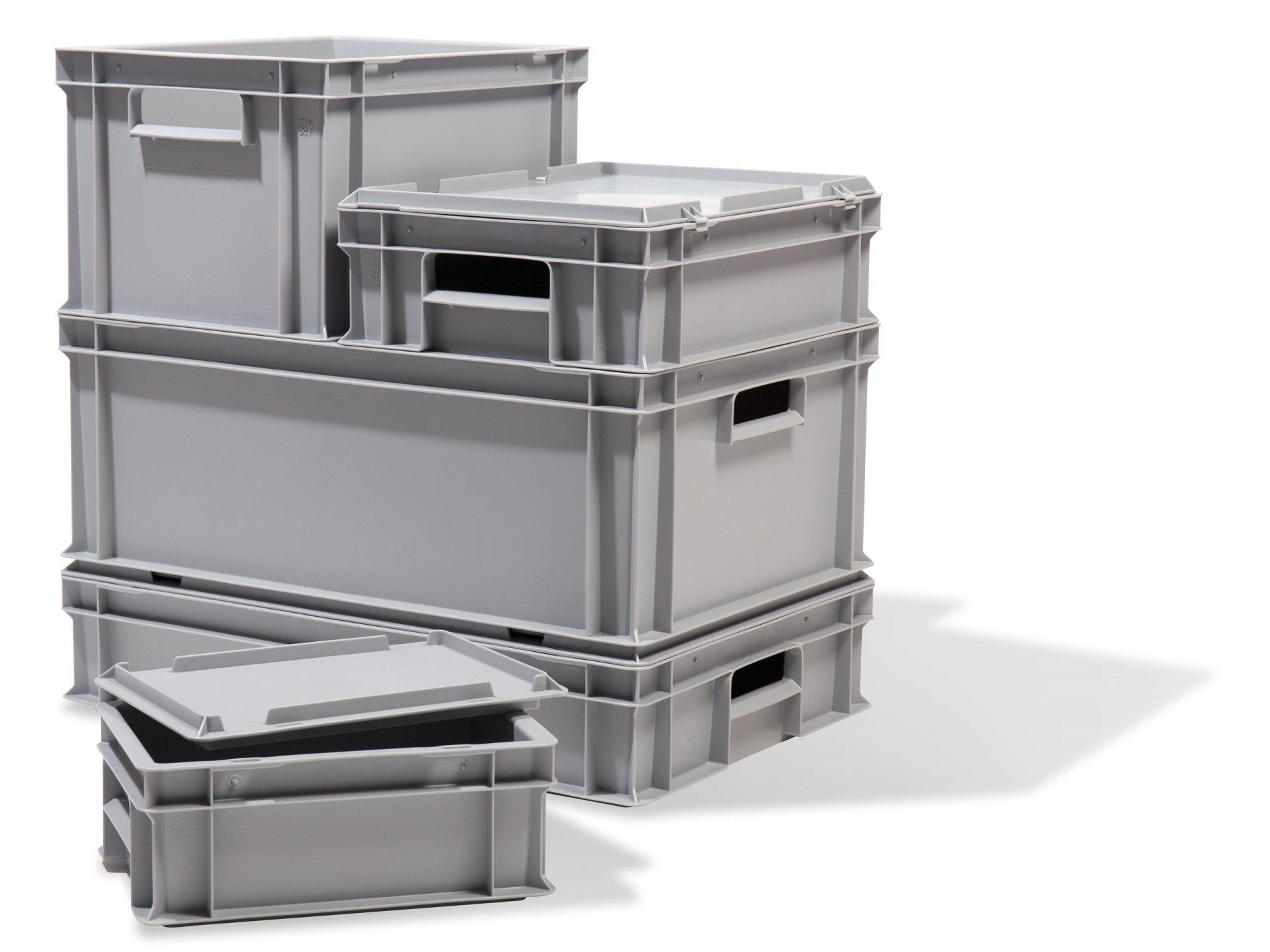 Buy Stacking (utility) box, grey, sealable online at Modulor