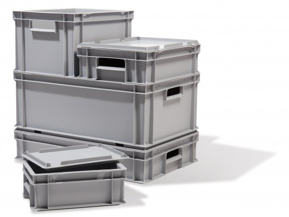 Stacking (utility) box, grey, sealable
