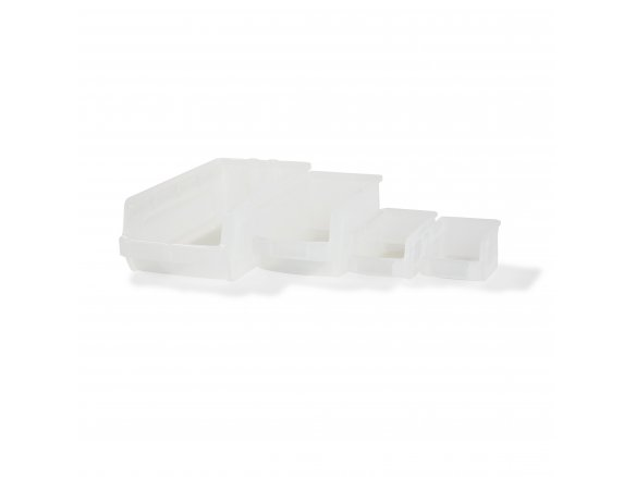 Interbin storage bin, transparent