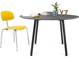 Modulor Tisch Y7 Stahl schwarz 10°