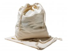 Cotton sack with drawstring