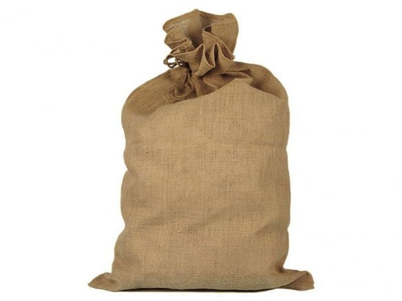 Burlap sack, natural brown