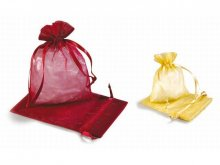 Small organza bags, coloured