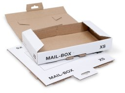 Mailbox shipping cartons, white