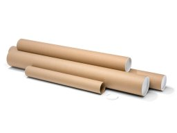 Round shipping tubes, brown
