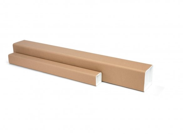 Square shipping tubes, brown