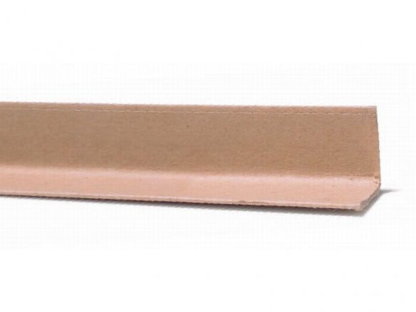 Laminated paper edge-protector L-angle strips