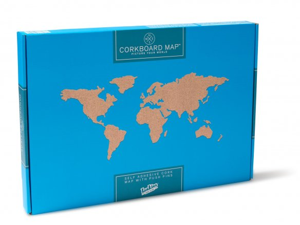 Buy World map cork pinboard online at Modulor