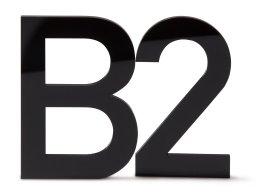 Modulor Acrylglas Buchstaben / Zahlen groß schwarz