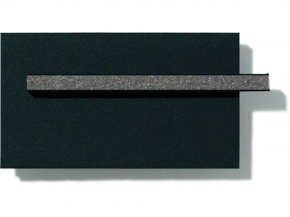 Foamboard, black, dark grey core