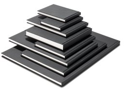 Seawhite Black Cloth sketchbook, white 140 g/m²